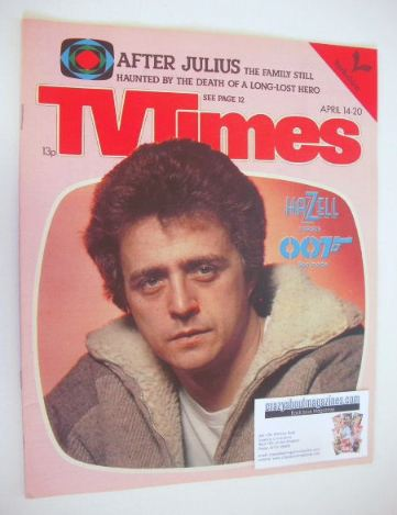 <!--1979-04-14-->TV Times magazine - Nicholas Ball cover (14-20 April 1979)