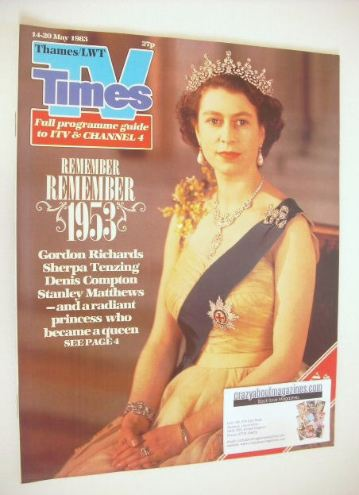 <!--1983-05-14-->TV Times magazine - Queen Elizabeth II cover (14-20 May 19