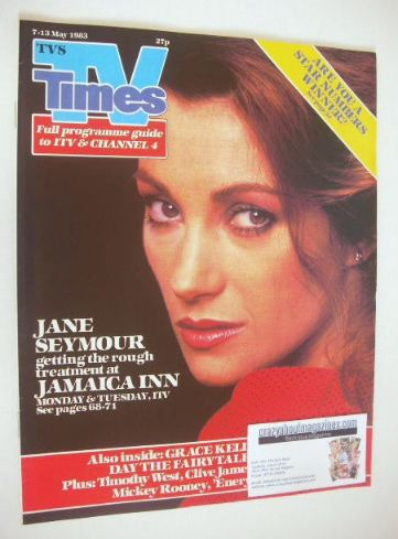 <!--1983-05-07-->TV Times magazine - Jane Seymour cover (7-13 May 1983)