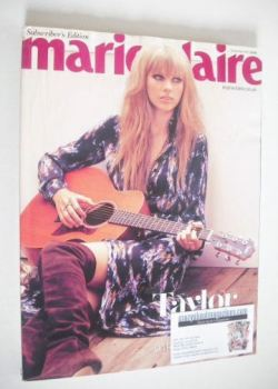 British Marie Claire magazine - November 2012 - Taylor Swift cover