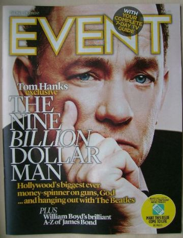 <!--2013-09-29-->Event magazine - Tom Hanks cover (29 September 2013)
