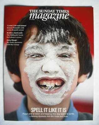 <!--2010-03-21-->The Sunday Times magazine - Spell It Like It Was cover (21