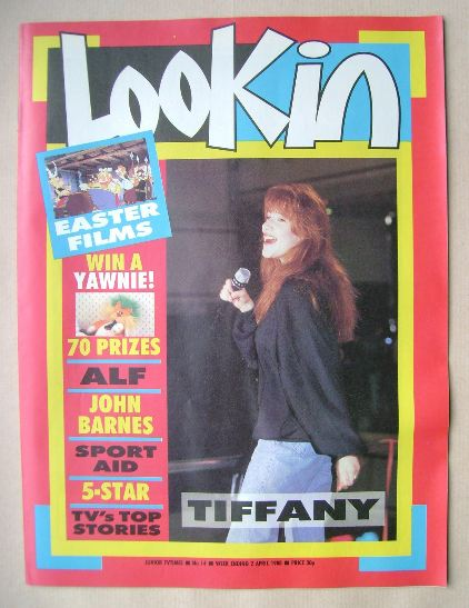 <!--1988-04-02-->Look In magazine - Tiffany Darwish cover (2 April 1988)