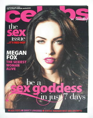 <!--2010-02-14-->Celebs magazine - Megan Fox cover (14 February 2010)