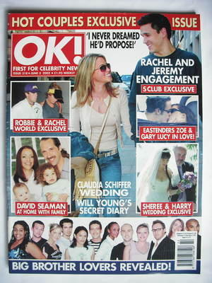 <!--2002-06-05-->OK! magazine - Rachel Stevens and Jeremy Edwards cover (5