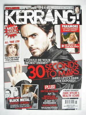 <!--2009-11-28-->Kerrang magazine - Jared Leto cover (28 November 2009 - Is