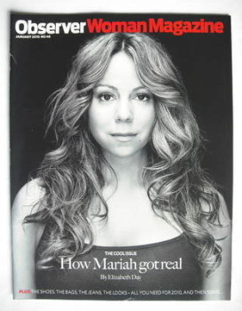 Observer Woman magazine - Mariah Carey cover (January 2010)