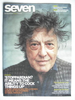 Seven magazine - Tom Stoppard cover (17 January 2010)