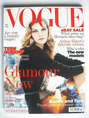 <!--2004-11-->British Vogue magazine - November 2004 - Angela Lindvall cove