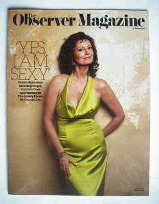 <!--2010-01-17-->The Observer magazine - Susan Sarandon cover (17 January 2