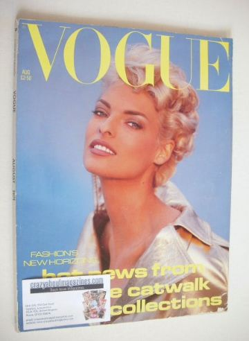 <!--1991-08-->British Vogue magazine - August 1991 - Linda Evangelista cove