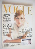 <!--1996-12-->British Vogue magazine - December 1996 - Amber Valletta cover