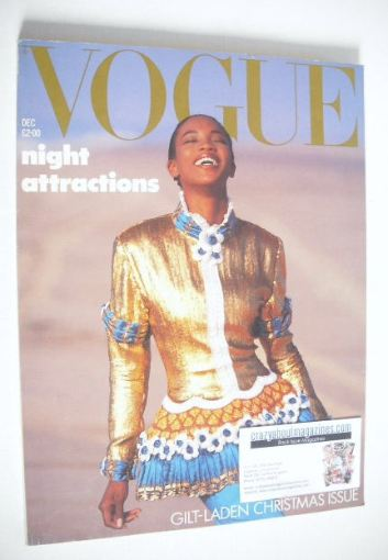 <!--1987-12-->British Vogue magazine - December 1987 - Naomi Campbell cover
