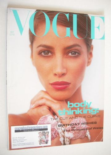 <!--1991-07-->British Vogue magazine - July 1991 - Christy Turlington cover
