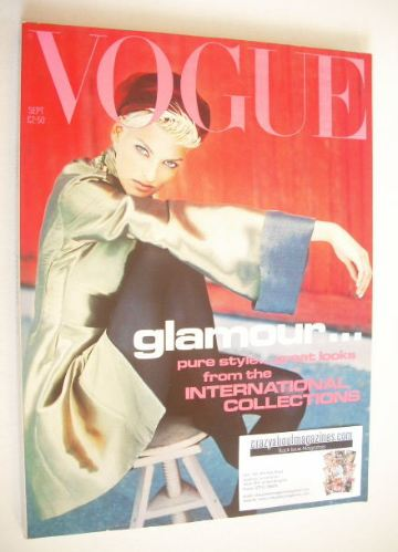 <!--1991-09-->British Vogue magazine - September 1991 - Linda Evangelista c