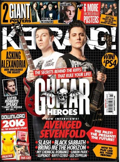 <!--2015-10-24-->Kerrang magazine - Guitar Heroes cover (24 October 2015 -