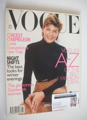 <!--1996-11-->British Vogue magazine - November 1996 - Linda Evangelista co