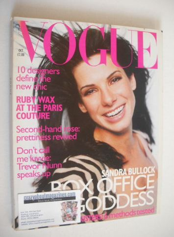 <!--1996-10-->British Vogue magazine - October 1996 - Sandra Bullock cover
