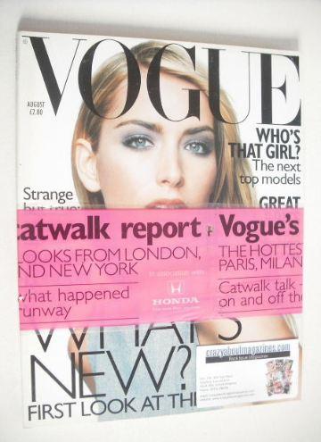 <!--1997-08-->British Vogue magazine - August 1997 - Georgina Grenville cov