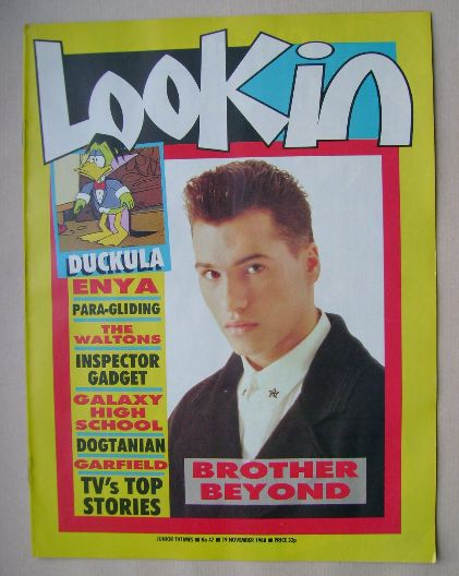 <!--1988-11-19-->Look In magazine - Nathan Moore cover (19 November 1988)