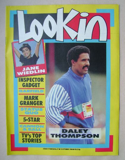 <!--1988-09-10-->Look In magazine - Daley Thompson cover (10 September 1988