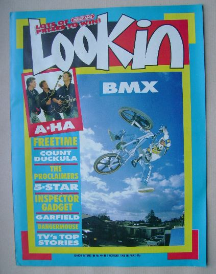 <!--1988-10-01-->Look In magazine - BMX cover (1 October 1988)