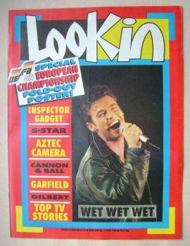 Look In magazine - Marti Pellow cover (11 June 1988)