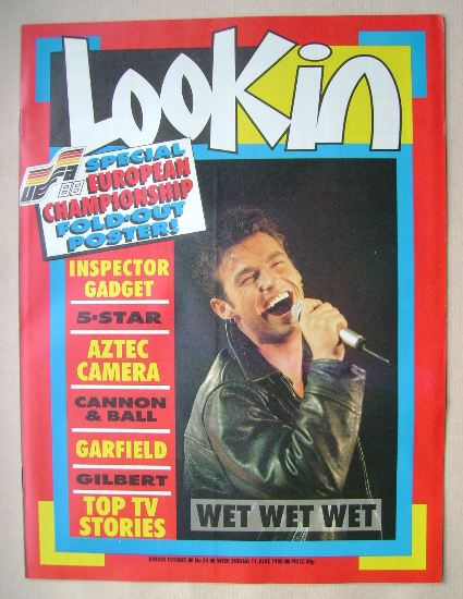 <!--1988-06-11-->Look In magazine - Marti Pellow cover (11 June 1988)