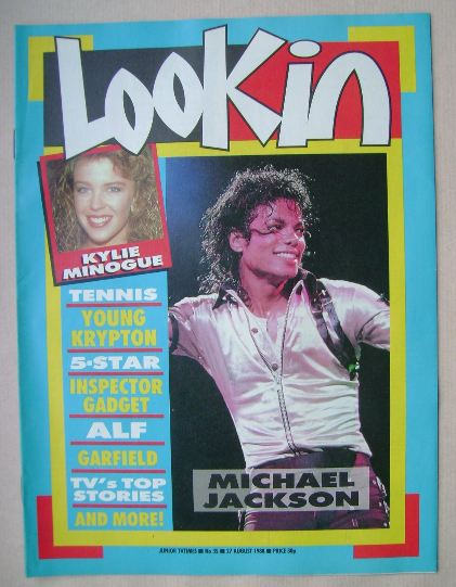 <!--1988-08-27-->Look In magazine - Michael Jackson cover (27 August 1988)