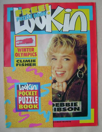 <!--1988-02-20-->Look In magazine - Debbie Gibson cover (20 February 1988)