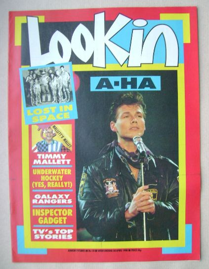<!--1988-04-30-->Look In magazine - Morten Harket cover (30 April 1988)