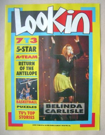 <!--1988-01-30-->Look In magazine - Belinda Carlisle cover (30 January 1988