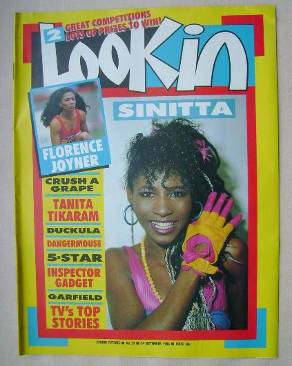 <!--1988-09-24-->Look In magazine - Sinitta cover (24 September 1988)