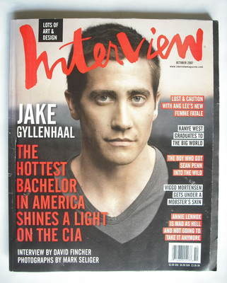 <!--2007-10-->Interview magazine - October 2007 - Jake Gyllenhaal cover