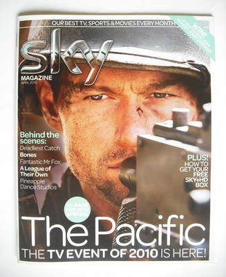 Sky TV magazine - April 2010 - The Pacific cover