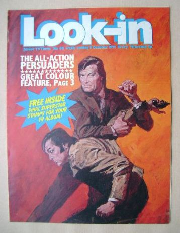 <!--1971-10-09-->Look In magazine - The Persuaders cover (9 October 1971)