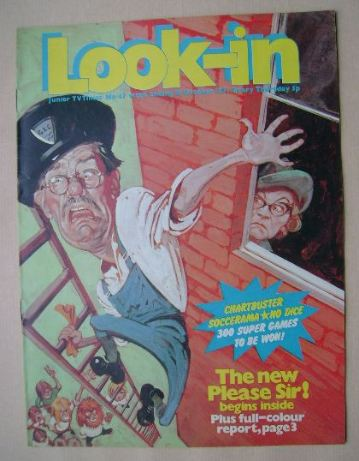 <!--1971-10-16-->Look In magazine - Please Sir! cover (16 October 1971)