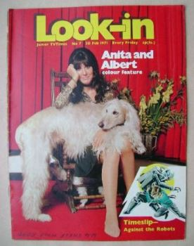 Look In magazine - Anita Harris cover (20 February 1971)