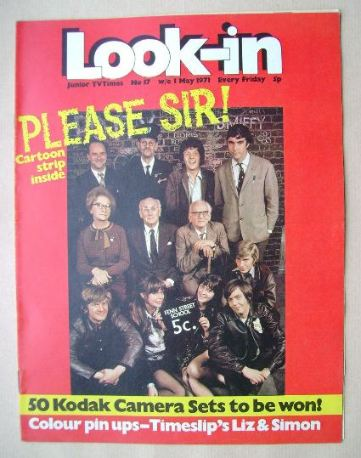 <!--1971-05-01-->Look In magazine - Please Sir! cover (1 May 1971)