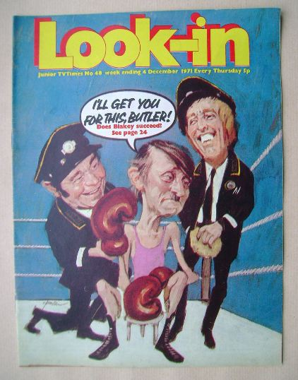 <!--1971-12-04-->Look In magazine - On The Buses cover (4 December 1971)