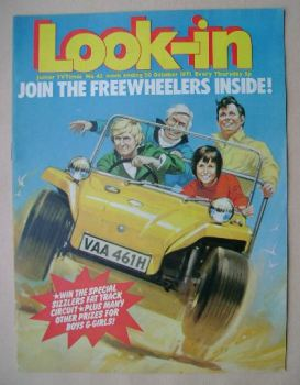 Look In magazine - Freewheelers cover (30 October 1971)