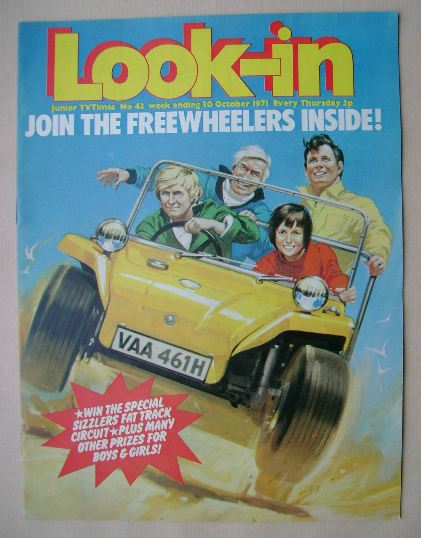 <!--1971-10-30-->Look In magazine - Freewheelers cover (30 October 1971)