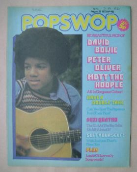 Popswop magazine - 11 August 1973 - Michael Jackson cover