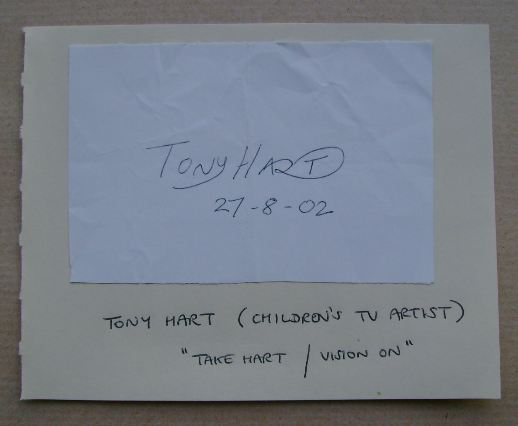 Tony Hart autograph