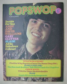 Popswop magazine - 18 August 1973 - Donny Osmond cover