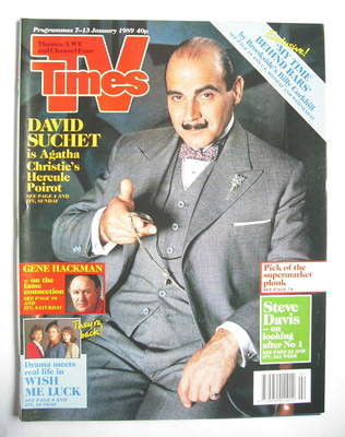 <!--1989-01-07-->TV Times magazine - David Suchet cover (7-13 January 1989)