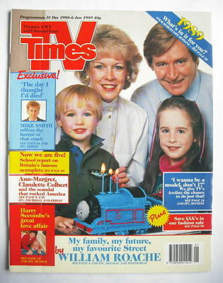 <!--1988-12-31-->TV Times magazine - William Roache cover (31 December 1988