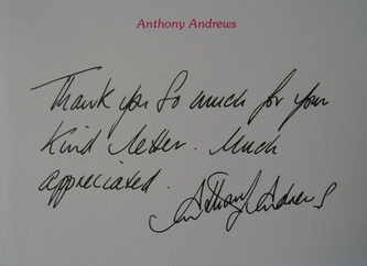 Anthony Andrews autographed card