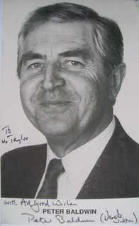 Peter Baldwin autograph