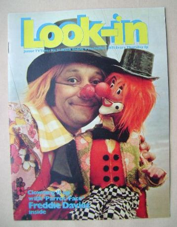 <!--1971-09-04-->Look In magazine - Freddie 'Parrot-Face' Davies cover (4 S
